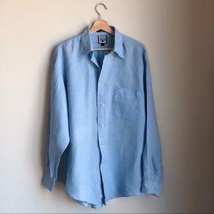 Faconnable Button Down Linen Shirt